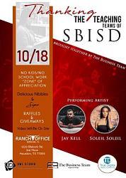 Thanking the Teaching Teams of SBISD